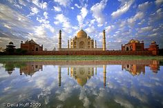 Sunrise at the Taj Mahal by Della Huff Photography