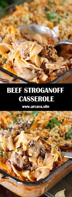 egg noodles 1 to 1 ½ lb. ground beef 3 T. Beef Stroganoff Casserole Recipe, Beef Casserole, Casserole Dishes, Casserole Recipes, Meat Recipes, Dinner Recipes, Cooking Recipes, Hamburger Recipes, Pasta Recipes