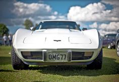 #automobiles #automotive #blur #car show #cars #classic #classic car #close up #clouds #corvette #field #focus #grass #grass field #license plate #racing car #retro #roadster #sports car #tires #tyres #vehicles #v