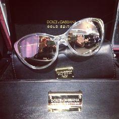 626778043379 Dolce Gabbana gold eye wear limited edition!