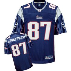 Reebok New England Patriots Rob Gronkowski 87 Blue Authentic Jerseys Sale