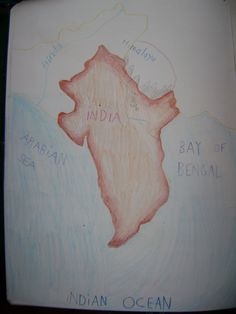 Waldorf ~ 5th grade ~ Ancient India ~ Map ~ main lesson book