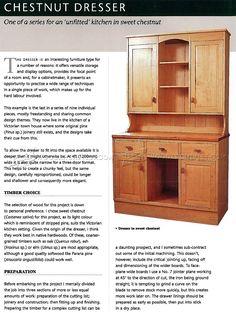 #2945 Kitchen Dresser Plans - Furniture Plans