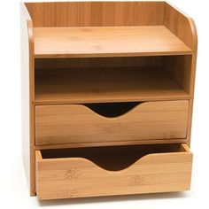 Wooden Drawer Organizer, Office Drawer Organization, Drawer Dividers, Drawer Organisers, Office Organization, Small Wooden Desk, Wooden Drawers, Desk With Drawers, Wooden Handles