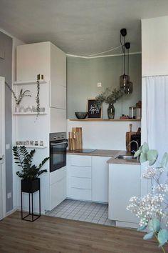 Wohnungsliebe Discount Exterior Light Fixtures W Interior Design Kitchen, Interior Design Living Room, Living Room Designs, Kitchen Decor, Small Living, Home And Living, Küchen Design, Apartment Design, Studio Apartment