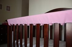A Cheap & Easy Crib Rail Protector Tutorial - wish I started getting crafty before I spent 80 dollars on mine!