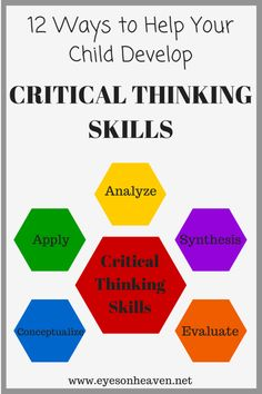 Critical thinking is essential for pretty much everything in life. Use these 12 fun activities to help your child enhance these skills! Learning Tips, Project Based Learning, Learning Activities, Kids Learning, Cooperative Learning, Visible Thinking, Higher Order Thinking, Critical Thinking Activities, Critical Thinking Skills
