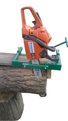 This compact vertical milling attachment combined with your chain saw makes an ideal partner . Mini-Mill converts logs into timbers or lumber of any desired dimension. The advantages of this mill is that it is very quick and easy to fix to your chainsaw, it is light and easy to handle and when handled correctly gives good accurate results.