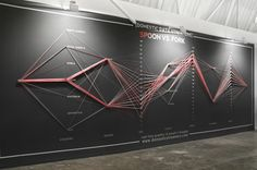 Domestic Data Streamers, Dani Pearson, Project developed in the SWAB International Art Fair Barcelona  Domestic Data Streamers is a real time, real size and on the go infographic based on answers given by the public passing by a space of transit. Answers ranging from opinions, to levels of optimism, age or even the colour of pyjamas create a graphic stream of data flow which is collected over 24 hours.
