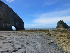 ProTrails | Rialto Beach, Olympic National Park, Washington hole in the wall at low tide