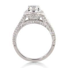 Mark Broumand 2.16ct Round Brilliant Cut Diamond Engagement Anniversary Ring