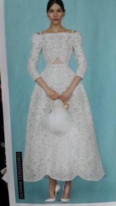 Ulyana sergeenko wedding dress 2015
