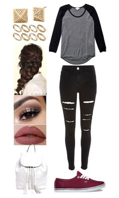 """""""Untitled #159"""" by rhay-q ❤ liked on Polyvore featuring River Island, Wilfred, ASOS, Disney, Vans and Rebecca Minkoff"""