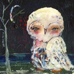 owl in the dark by Juliette Crane