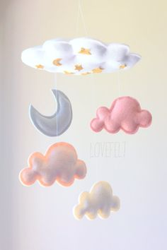 Baby mobile Cloud Mobile Baby Mobile Cloud door lovefeltmobiles