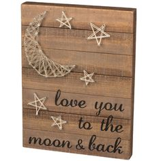 Primitives by Kathy String Wall Art - Moon and Back - 30449