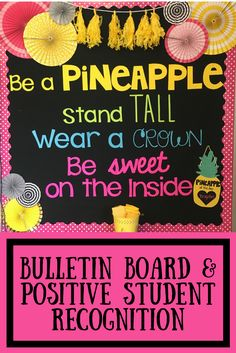 """Be a Pineapple! Our """"Pineapple of the Day"""" is responsible for recognizing the great things that their peers do! When they see someone being kind, working hard or doing their best they write their name and what they did on a Pineapple Nomination Sheet. At the end of the day we draw one of the filled out nomination sheets and that person is the new Pineapple ."""