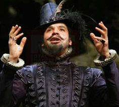 - 'Love's Labours Lost'.  Joe Dixon as the bombastic Don Adriano de Armado @ the RSC