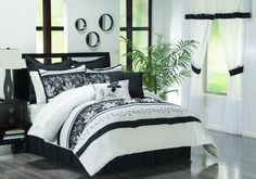 Black /White Luxury Bed In A Bag