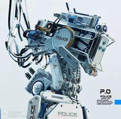 【科幻之美】拉颜值,长着五脏六腑的机器人@十字贝贝采集到收下(15109图)_花瓣插画/漫画