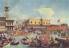 Venice's Marriage of the Sea Ceremony by Canaletto