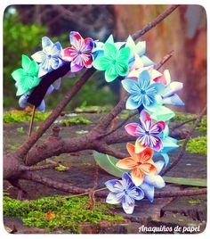 diadema de flores kusudama