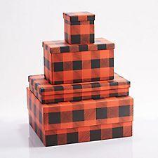Buffalo Plaid Gift Boxes