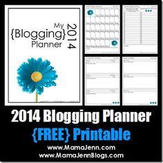 My 2014 Blogging Planner {FREE Printable} « Mama Jenn {the blog}