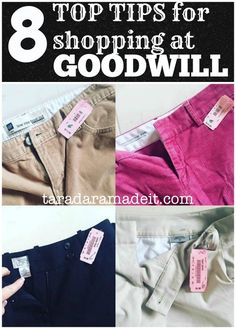 Top tips for shopping at Goodwill - a couple of AWESOME secrets are in here!!! #thrifting #goodwill
