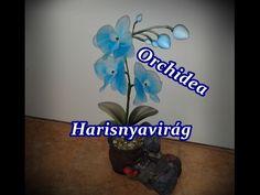 Lan hoàng hậu bằng vải voan - Orchid nylon flowers - YouTube