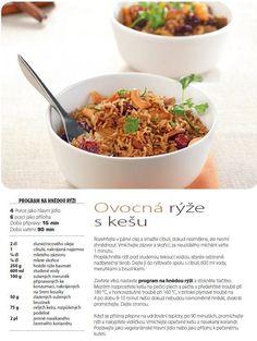 0345c2f924193 Ovocná rýže s kešu recept, Multifunkční hrnec 8v1 RK302