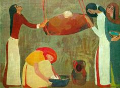 Women Churning Butter ~ Minas Avetisyan