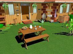 #Country #Home #Garden-#Lunch-#3D © Bluedarkat