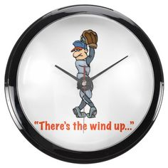 """""""There's the wind up..."""" Aqua Wall Clock"""
