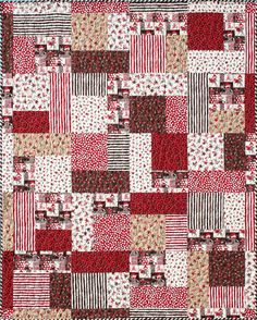 Turning Twenty<font Monkeys Uncle<br>Fat Quarters & Binding<br><br><font color=red>Sold Out</font><br> at FriendFolks by Tricia Cribbs Scrap Quilt Patterns, Beginner Quilt Patterns, Quilting For Beginners, Quilt Tutorials, Big Block Quilts, Scrappy Quilts, Small Quilts, Quilt Blocks, Quilting Projects