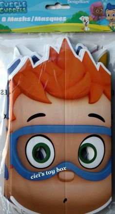 Bubble Guppies Party Masks, Package of 8