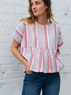 Update a plain top pattern with a gathered bodice with this tutorial at WeAllSew.