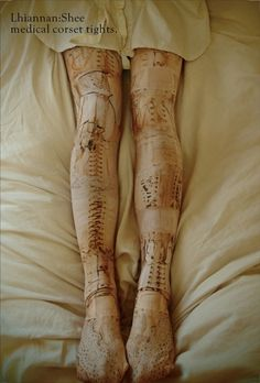 medical corset tights.  from Lhiannan:Shee.    Oh my God… I need these in my life O______O <3333