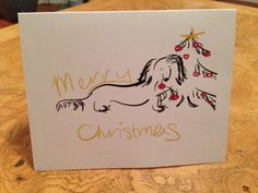 Merry Christmas Dachshund Card Set of 10 by DapperDachshund