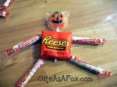 DIY~Quick Halloween Project: Pumpkin Candy People