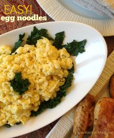 Use this easy Thermomix egg noodles recipe for a fun and healthy alternative to pasta. A diabetic-friendly option that is higher in protein, lower in carbs.