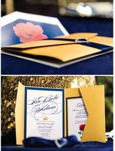 Beauty and the beast themed wedding central texas the colors in beauty and the beast inspired wedding invitation price per each stopboris Choice Image