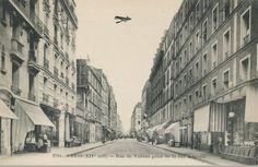 La rue de Vanves (rue Raymond-Losserand depuis 1945), vue depuis la rue d'Alésia, vers 1905  (Paris 14ème)