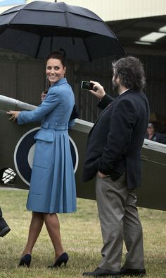 Sir Peter Jackson seems to be taking as many snaps as the official photographers. Kate Middleton - The Duke And Duchess Of Cambridge Tour Australia And New Zealand - Day 4