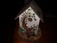 Decorative Bird Houses for Outside | Hand painted decorative bird house