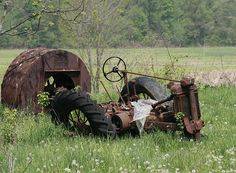 Wrecked Tractor. I think it just felt tired, maybe low on iron?