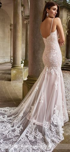 Blush Wedding Dress by David Tutera for Mon Cheri Spring 2017
