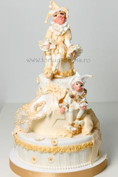 Fabulous Cake Art! ~ details are amazing ~ Arlecchino  ~ all edible
