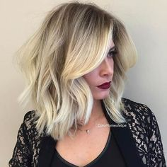 Blonde Long Bob (LOB) Haircut Idea