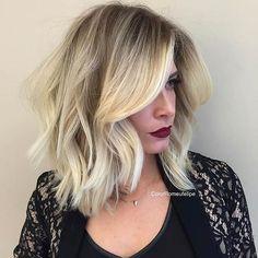 Blonde Long Bob (LOB) Haircut Idea